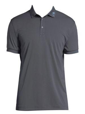 J.LINDEBERG Tech Jersey Polo Shirt in Dark Grey