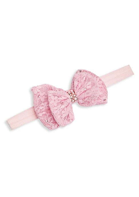 Girls Small Lace Bow Headband