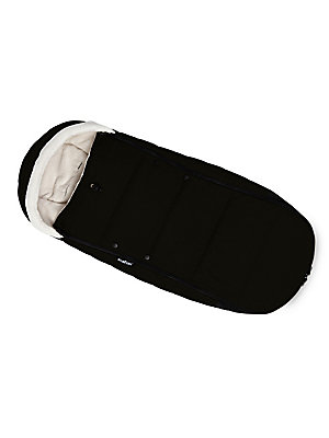 "Image of Footmuff with a quilted design and super soft interior 22""W x 8""H x 7""D Zip closure Sherpa lining Polyester Machine wash Imported. Children's Wear - Layette Apparel And Acce. Baby Zen. Color: Black."