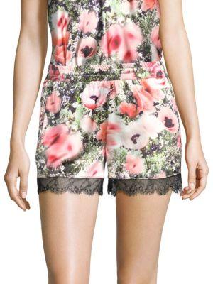 Fleur Du Mal Silks Margo Lace Shorts