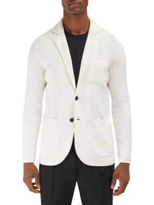 EFM-ENGINEERED FOR MOTION Acton Fashion Knitted Blazer in White