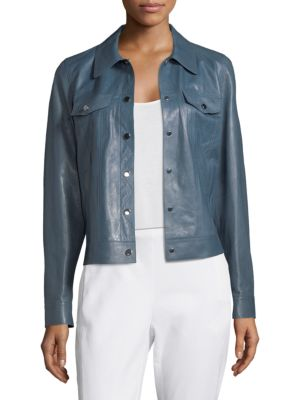 Lafayette 148  Destiny Leather Jacket