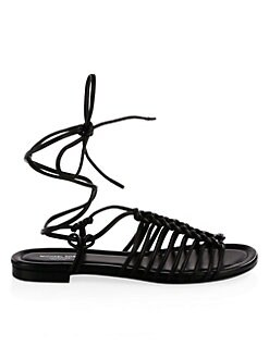 Fagan Braided Sandals BLACK. Product image