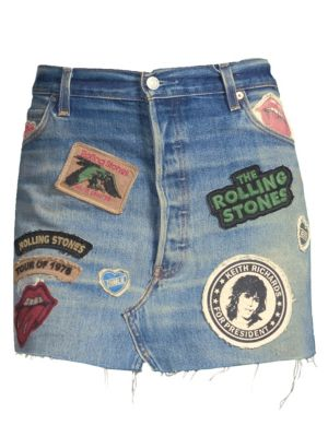 Rolling Stones Denim Skirt by Madeworn