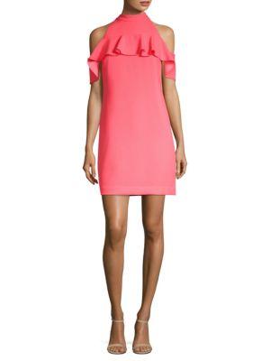Trina Turk Superbloom Laelia Cold-Shoulder Dress