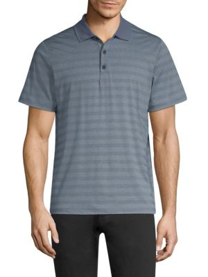 MPG Unexplored Knit Polo in Navy Sky Blue