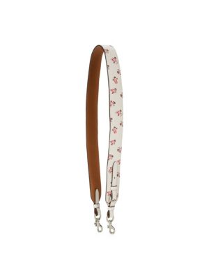 Floral Leather Bag Strap by Coach
