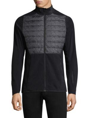 J.LINDEBERG Lux Softshell Hybrid Jacket in Black Buil