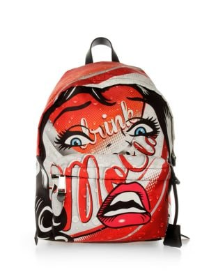 Multicoloured Face Print Backpack