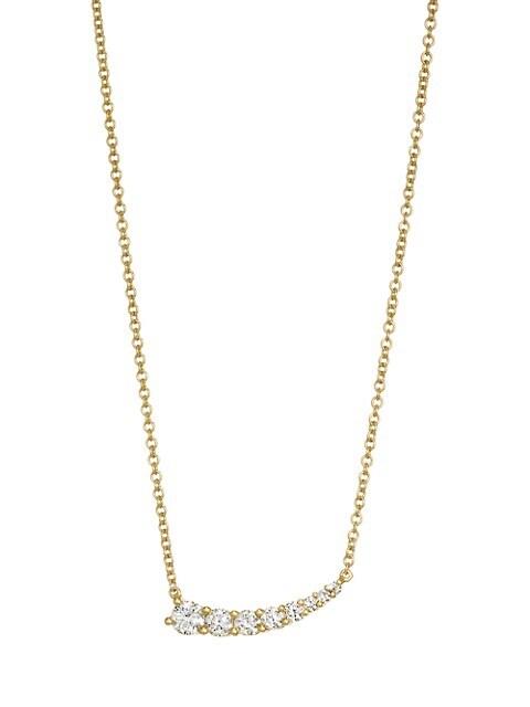 18K Gold & Diamond Graduated Necklace