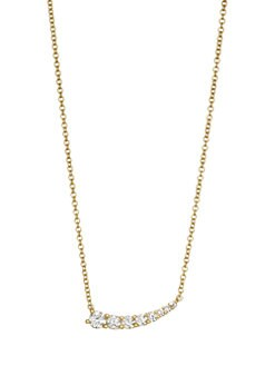 5fe640a9af6 QUICK VIEW. Anita Ko. 18K Gold   Diamond Graduated Necklace