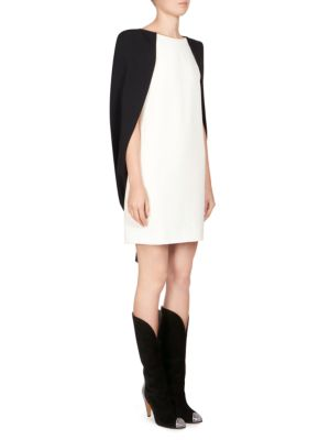 GIVENCHY Short Dress In Ivory Viscose Crepe Dress