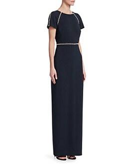 2014 Green Sequin Long Dresses Empire Size 14