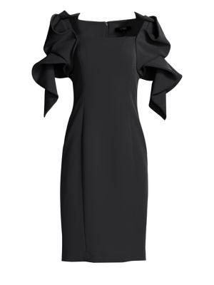Origami Sleeve Dress by Badgley Mischka