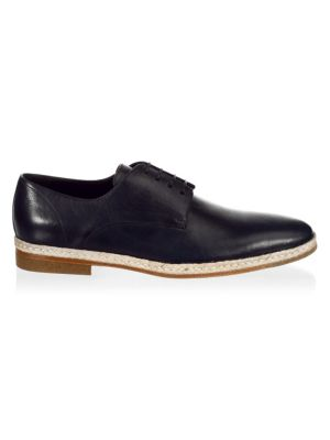 A. TESTONI Classic Leather Derbys in Navy