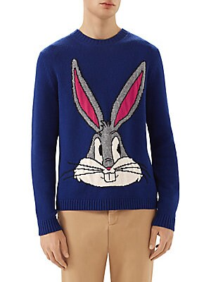 5657a080809 Gucci - Bugs Bunny Wool Knit Sweater - saks.com