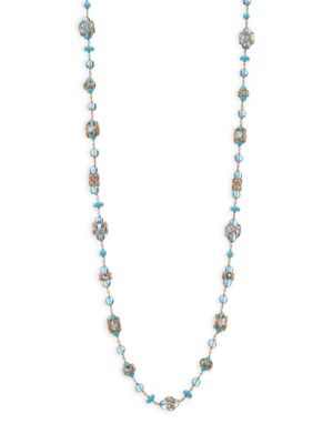 ETHO MARIA Blue Topaz & Turquoise Necklace in Multi