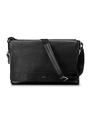 cbdbcdb69014 Michael Kors - Grain Leather Messenger Bag - saks.com