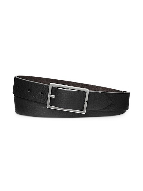 Four-Notch Leather Belt