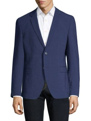 STRELLSON Wool Suit Jacket in Navy