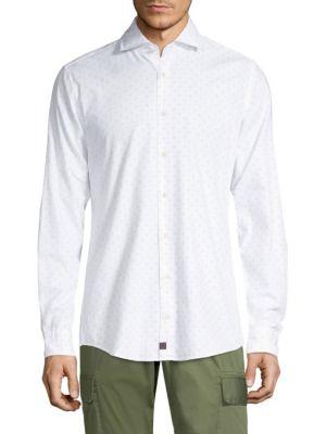 STRELLSON Sereno Polkadot Button-Down in White