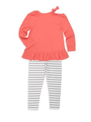 Toddlers  Little Girls TwoPiece ColdShoulder Top and Pants Set