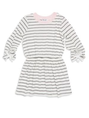Toddlers  Little Girls LongSleeve Stripe Dress