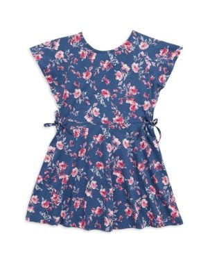 Toddlers  Little Girls FloralPrint Cotton Dress