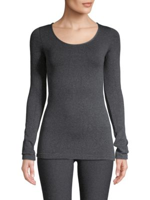 PHAT BUDDHA South Village Long Sleeve Top in Heather Rose Violet