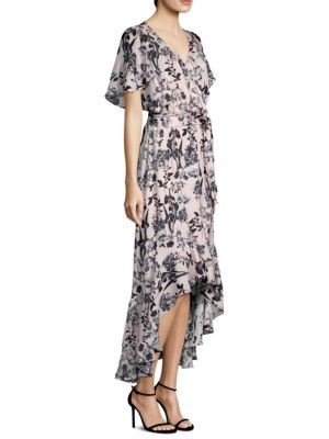 Parker  Demi High-Low Silk Wrap Dress