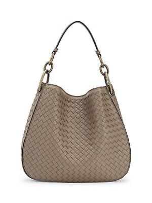 Bottega Veneta - Veneta Large Leather Hobo Bag - saks.com 21d7fabbf9aa9