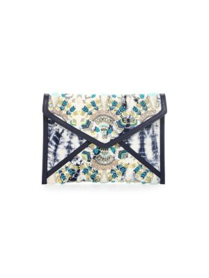 Dreamy Leo Envelope Clutch - Blue, Indigo