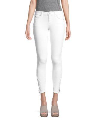 Jennie Curvy Skinny Crop Jeans In Optic White, Dau Optic White