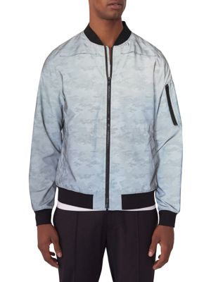 EFM-ENGINEERED FOR MOTION Crosby Camo Reflective Bomber Jacket in Grey