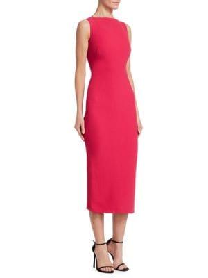 ... to this beautifully tailored sheath that hugs curves from the angular  neckline to the midi-length hem. Style Name  Brandon Maxwell Sheath Midi  Dress. 8db64bdca