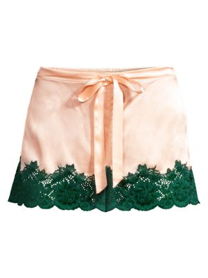 Ginia Women's Lace-trimmed Shorts In Light Pink