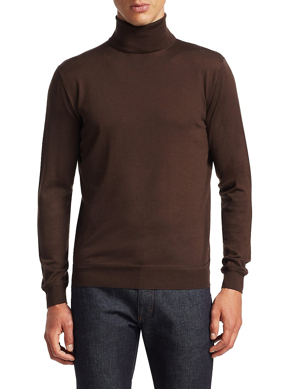 Ermenegildo Zegna Men's Storm Cashmere Turtleneck Sweater In Brown
