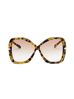 f2ac890e898e Karen Walker - 51MM Mr. Binnacle Tobacco Glitter Sunglasses - saks.com
