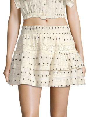 Loveshackfancy  Taylor Tiered Mini Skirt