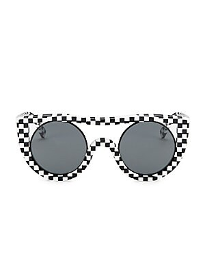 e95a1edc8c Oliver Peoples - Oliver Peoples x Alain Mikli Checkerboard Aviator  Sunglasses
