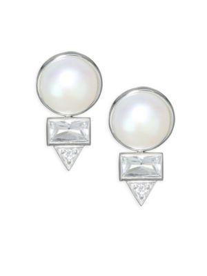 Anzie Cléo Spear Baguette Earrings