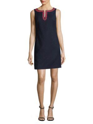 TRINA TURK Seal Beach Sleeveless Mini Dress in Indigo