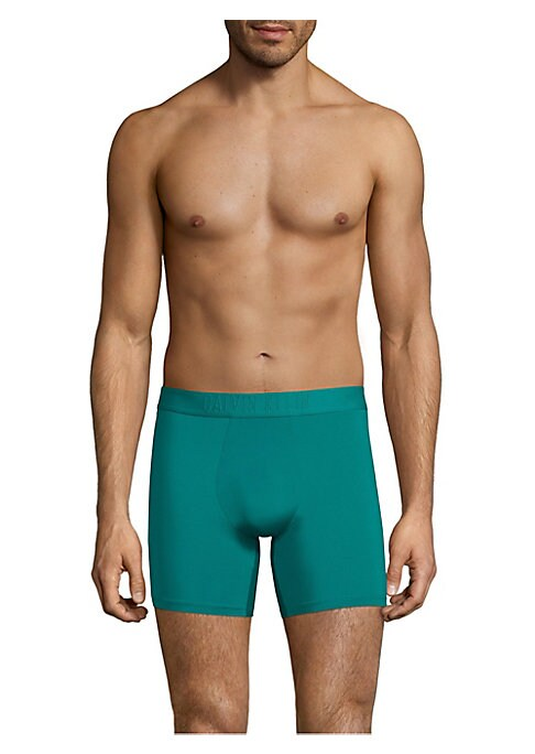 Image of Boxer brief finished with stretches in every direction allows full motion recovery. Elasticized logo waist. Lightweight but not transparent. Customized fit through stretch fabric. Comfortable seam. Polyamide/elastane. Machine wash. Imported.