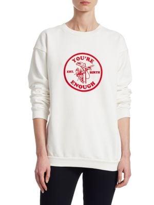 24/7 Perspective You're Enough Cotton Sweatshirt