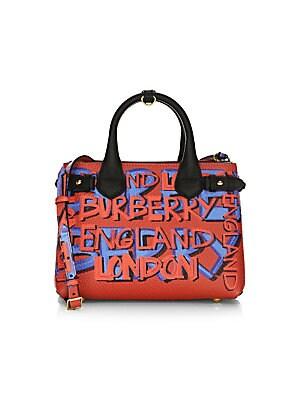 43de353afbce Burberry - Small Banner Graffiti-Print Leather Mini Bag - saks.com