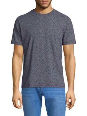 Theory  Abstract-Print Cotton Tee