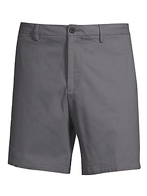 """Image of Clean front shorts in an above-knee length Belt loops Zip fly with button closure Back welt pockets Rise, about 10"""" Inseam, about 8"""" Leg opening, about 20"""" Cotton/nylon/polyamid/elastane Machine wash Imported. Men Adv Contemp - Contemporary Tops. Bonobos."""
