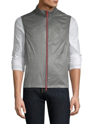 G/FORE Shell Slim Vest in Heather Grey