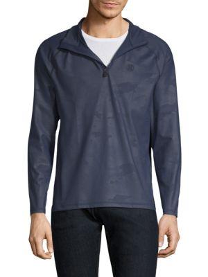 G/FORE Camouflage Midlayer Half-Zip Sweatshirt in Twilight