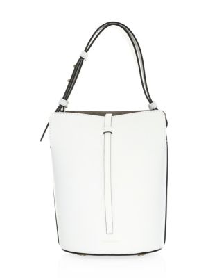 60ddce8cd07f Burberry Small Leather Bucket Bag In Chalk White